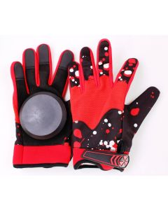 Longboard Downhill Sliding Gloves (Red Splatter)